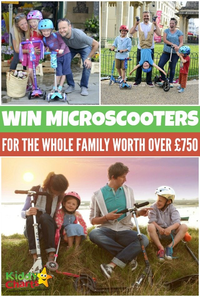 A chance to win Microscooters for the whole family worth over £750