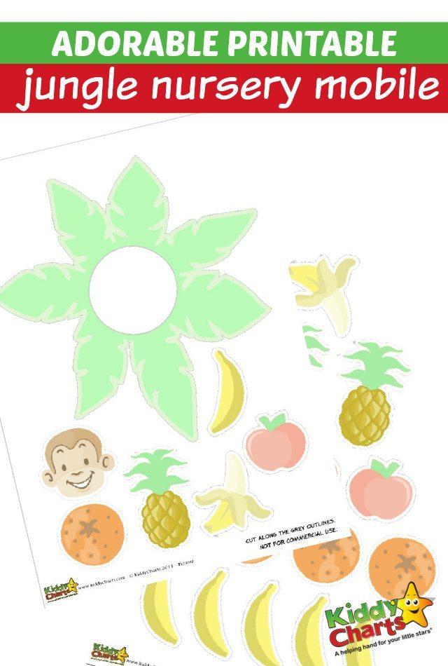 Adorable Printable Jungle Nursery Mobile