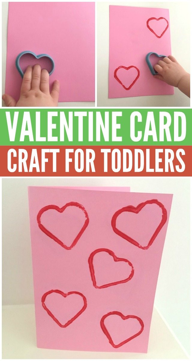 Adorable and easy heart Valentine card for toddlers