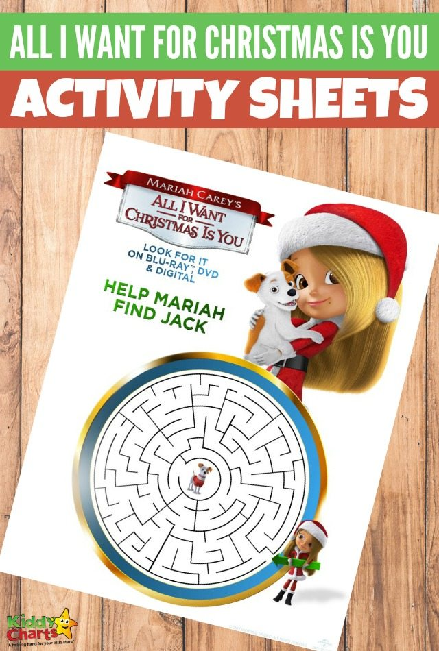 All I want for Christmas is you activity sheets for kids. #activitysheets #freeprintablesforkids #printableactivity