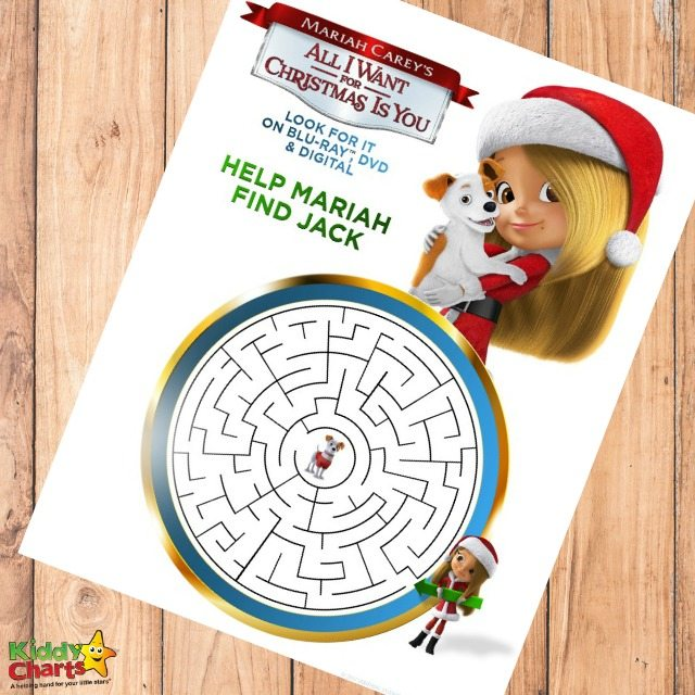All I want for Christmas is you activity sheets. Join Mariah find Jack with our free printable sheets just in time for Christmas.