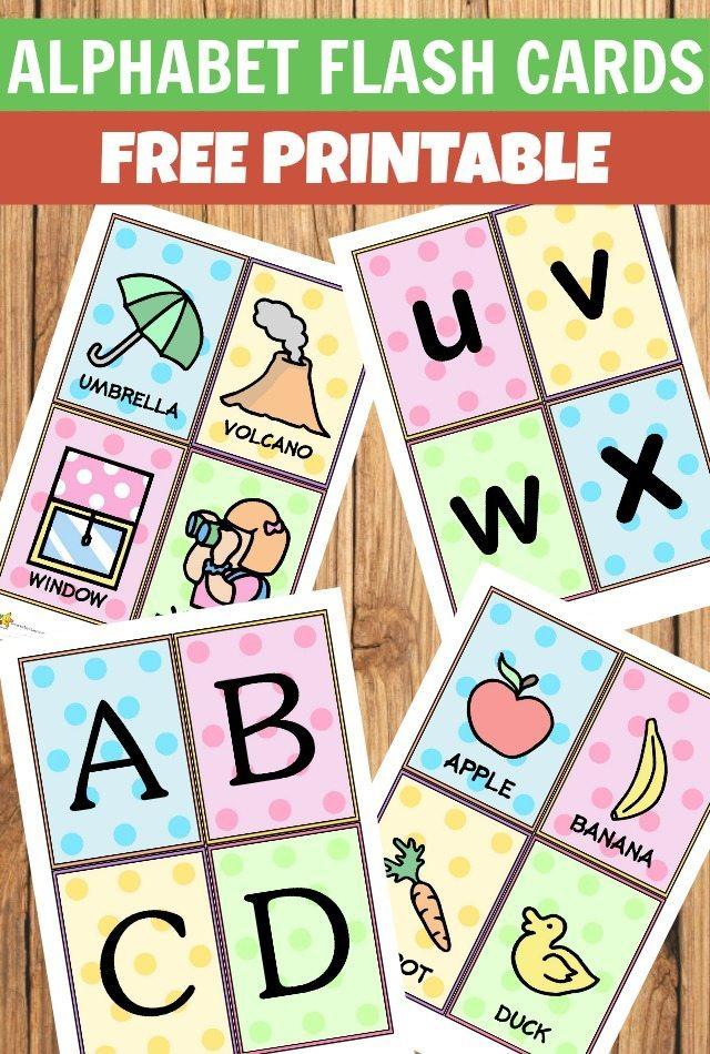 Alphabet flash cards free printables