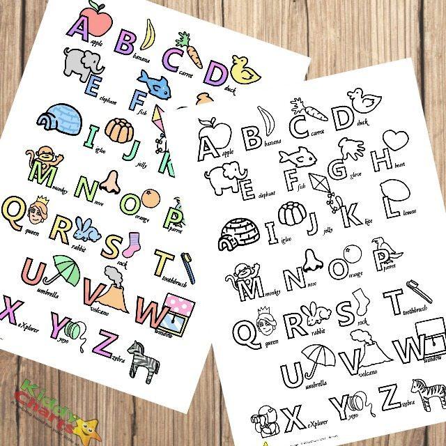 Alphabet poster printables for little ones