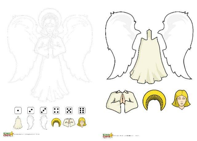 Angel printable dice game