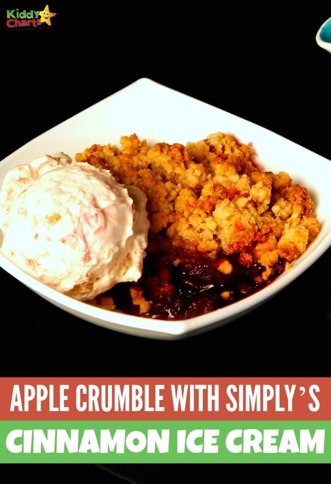 Apple Crumble With Simply's Award-Winning Cinnamon Ice Cream