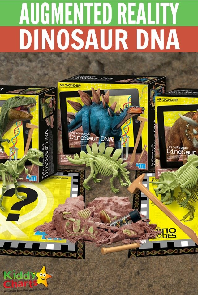 Augmented Reality Dinosaur DNA set for kids