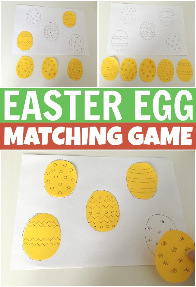 Awesome Easter egg matching game activity for kids