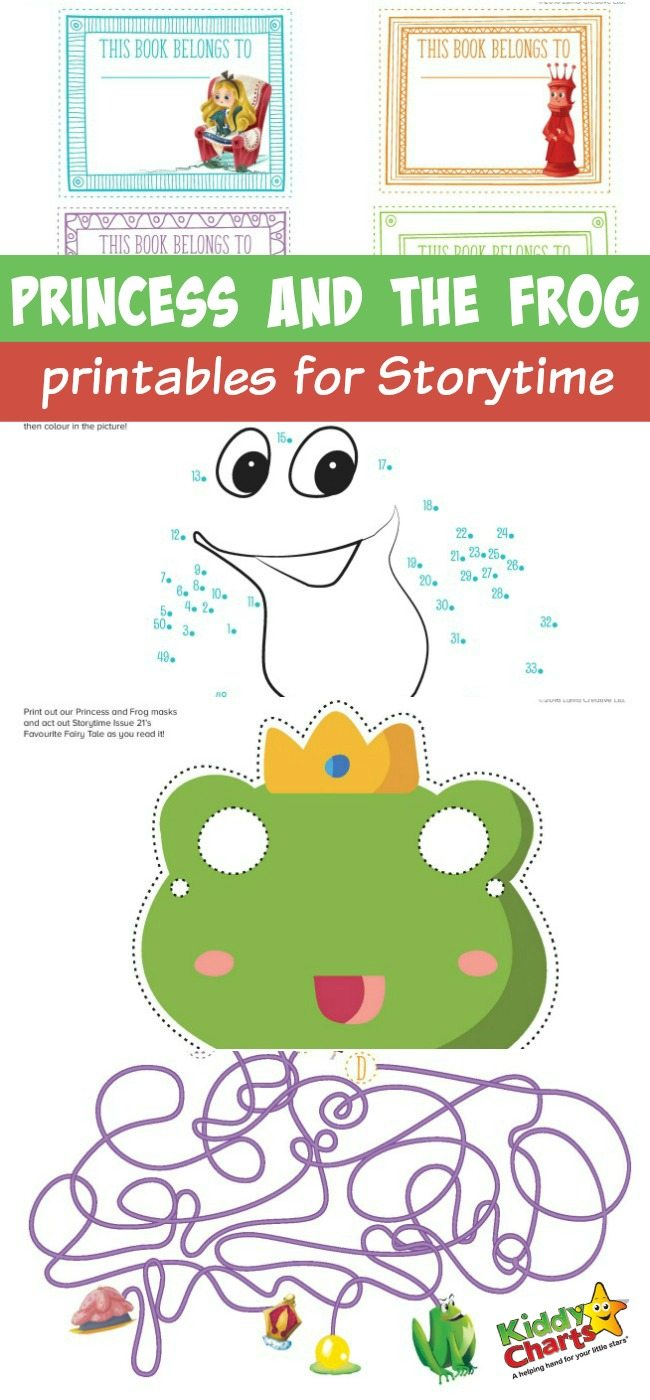 Awesome Princess and the Frog printables for Storytime