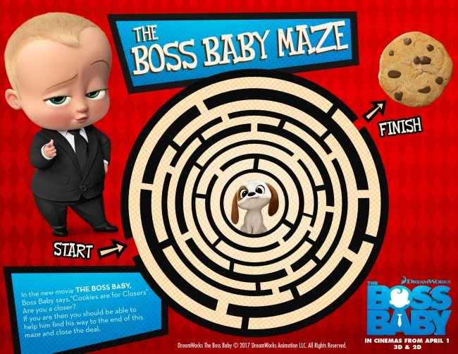 Boss Baby Colouring Pages And Activity Sheets Kiddycharts