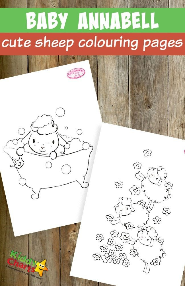 Baby Annabell cute sheep coloring pages for kids