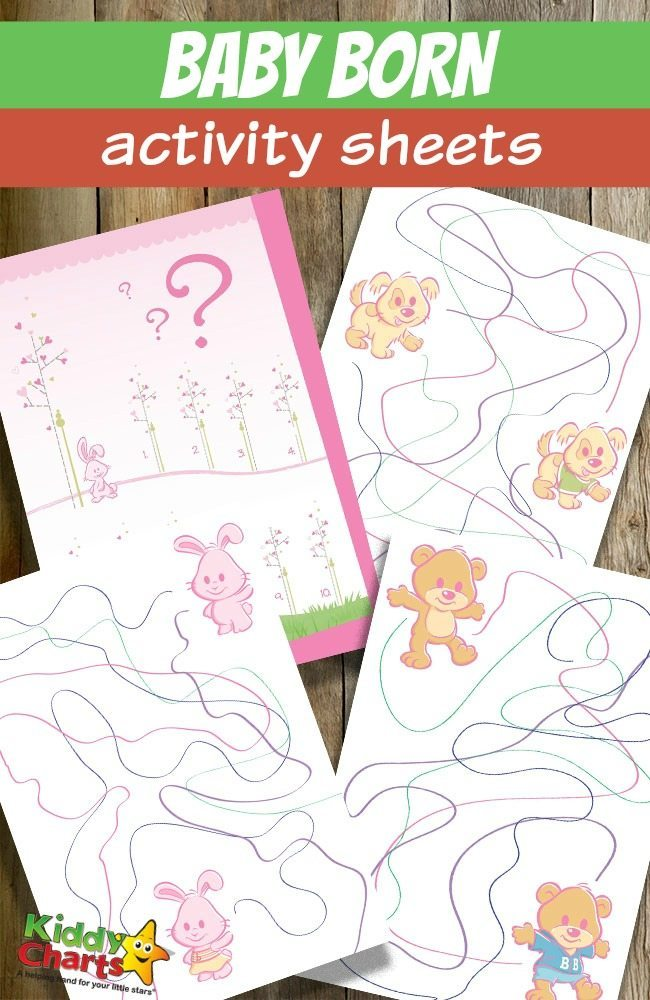 Download these free printable Baby Born activity sheets for kids. I'm sure your little ones will have lots and lots of fun with them.