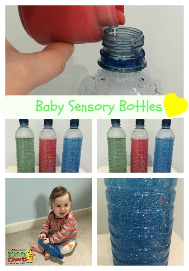 Fun craft for mum and baby. Create your own sensory baby bottle - add a little sparkle to your day!