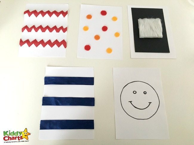 Baby sensory cards activity for kids