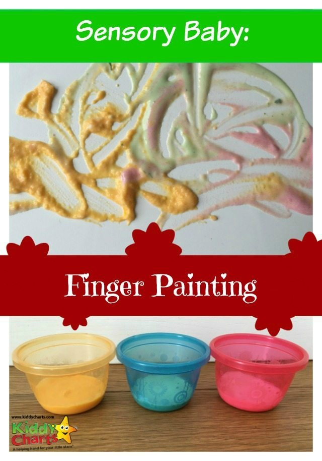 Have fun with your baby! Baby sensory finger painting with food. Enjoy this sensory activity today