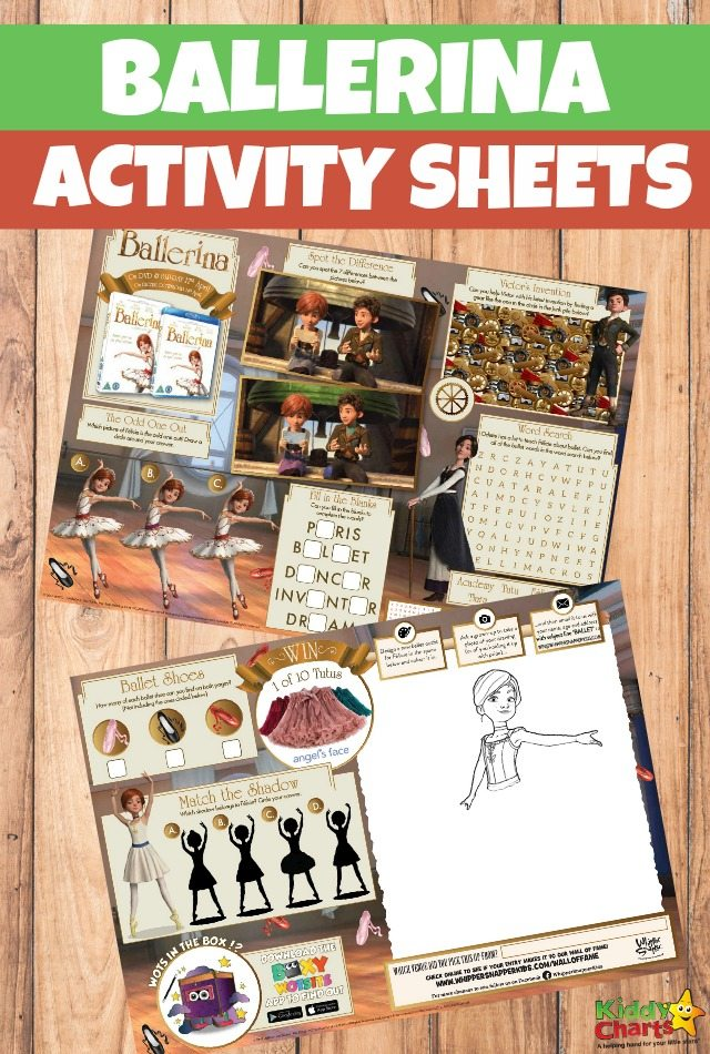 Ballerina Activity Sheets Free Printables for Kids