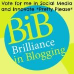 Short-listed in the Britmums Brilliance in Blogging Awards: Innovate and Social Media