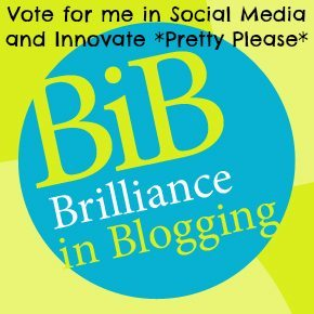 Brilliance in Blogging: Vote for me