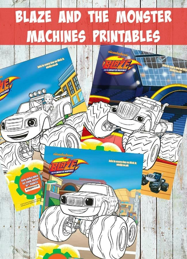 Blaze and the Monster Machines printables for little ones