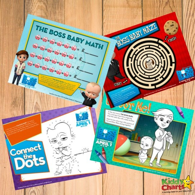 Boss Baby Activity Sheets