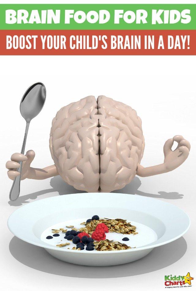 Brain boost diet for kids: Boost your child's brain in a day! #Braindietforkids #brainfood #healthyeating