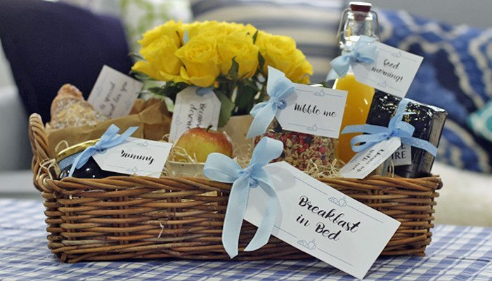 Breakfast in Bed Gift Tags