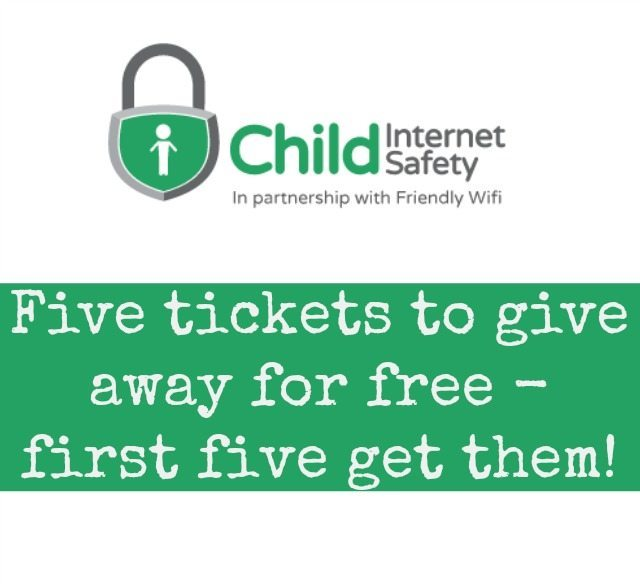 We have five free tikets to give away to the Child Internet Safety Summit - first five to follow these details get them!