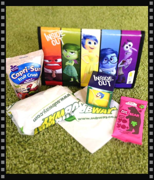 Are you a fan of Inside Out - then you'll love the Subway Kids Pak - a free bag with every meal!