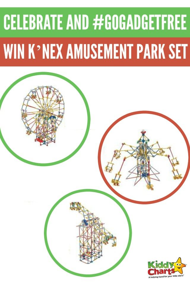 Celebrate and #GoGadgetFree with Kiddiewinkles and Win K'NEX Classic Amusement Park Building Set
