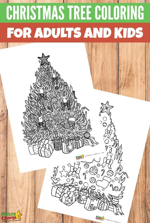 Christmas tree coloring for adults and kids #coloringpages #coloringpagesforadultsandkids #freeprintablecoloringpages
