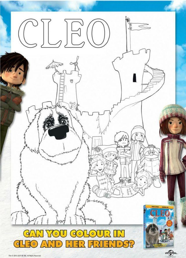 Cleo Colouring Page