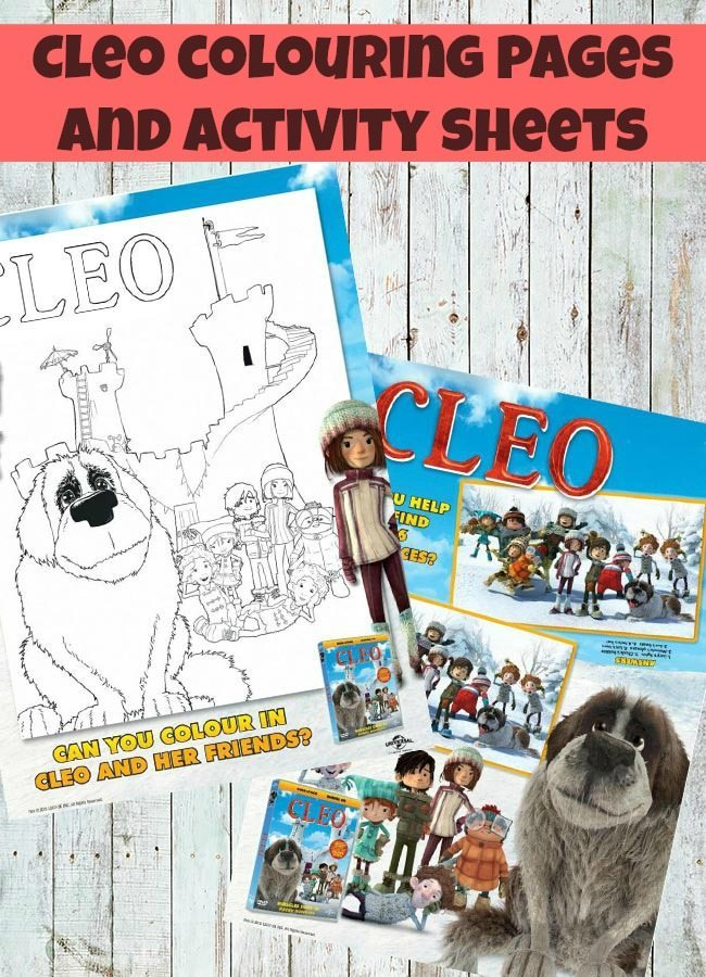 Cleo activity sheets for little ones