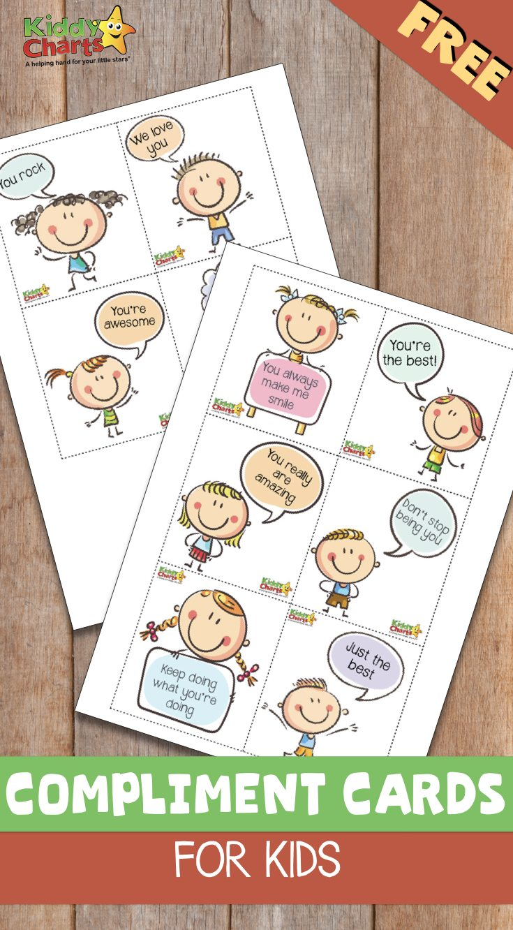 Fee compliment cards for the kids, so you really can spread a little love and kindness, without having to spend the earth!