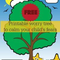 Free worry tree to help ease your kids fears