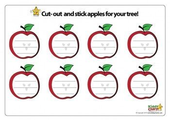 Now you need the apples to help out too! Cut these out, and write down your worries, to help cope with the anxiety a little better.