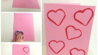 Easy heart Valentine card for toddlers