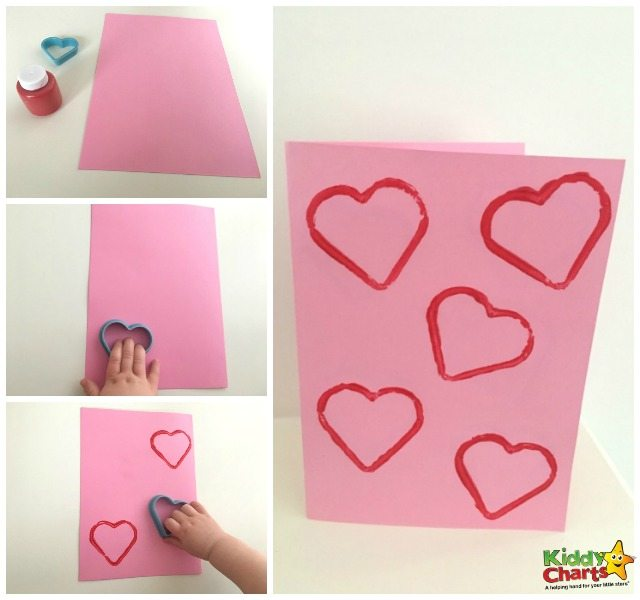Cute and Easy Heart Valentine Card for Toddlers