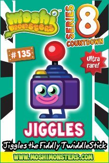 Moshi Monsters series 8 countdown day 10: Jiggles your friendly joystick