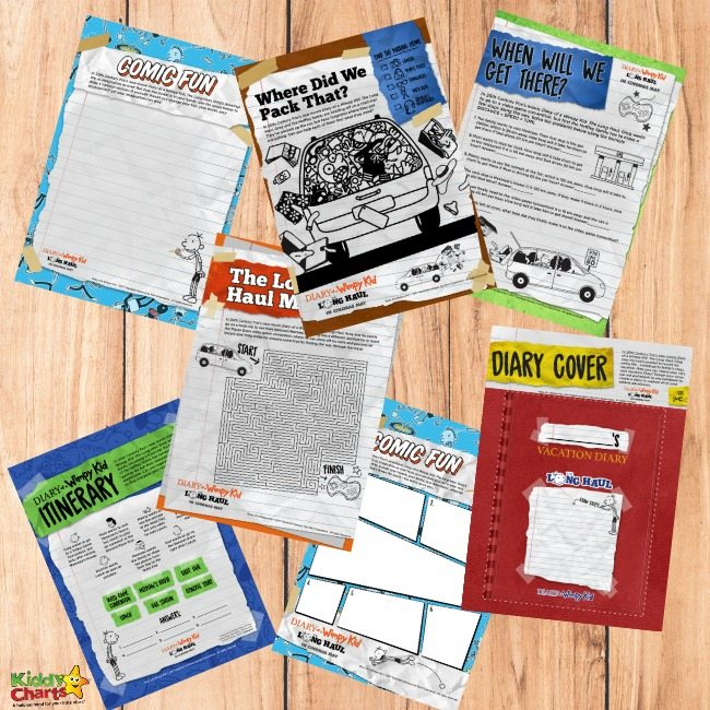 Diary of a Wimpy Kid coloring pages and activity sheets