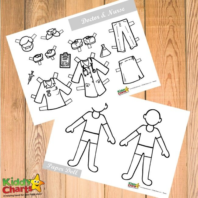 Doctor and Nursers Paper Dolls