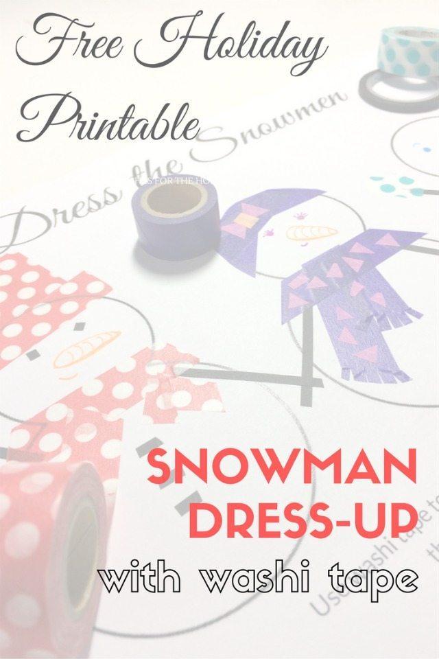 Dress the Snowmen Washi Tape Printable