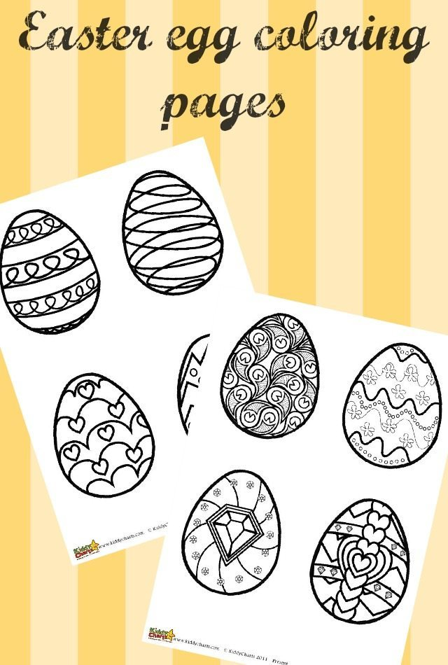 Easter Egg Coloring Pages For Kids and Adults