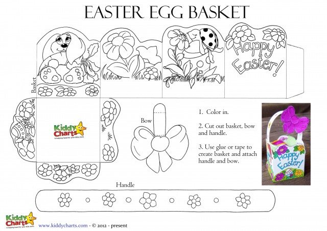No Easter egg hunt is complete without the Easter basket, so we have one for you to color in and then print out - so what are you waiting for, get printing and then go on that Easter egg hunt!