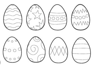 Easter Colouring Pages: Small Easter Eggs