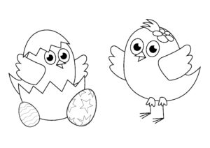 Easter coloring pages: Chicks