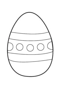 Easter Colouring Pages: Big Easter Egg