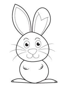 Easter coloring pages: Easter bunny