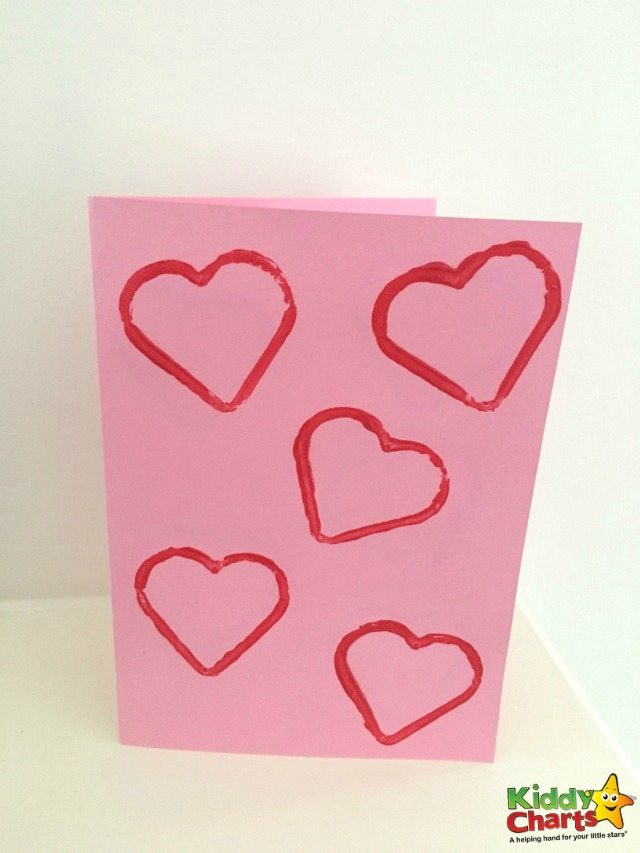 Easy Heart Valentine Card for Toddlers to Have fun