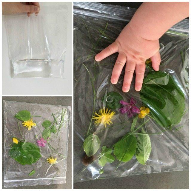 Easy to make nature sensory bags
