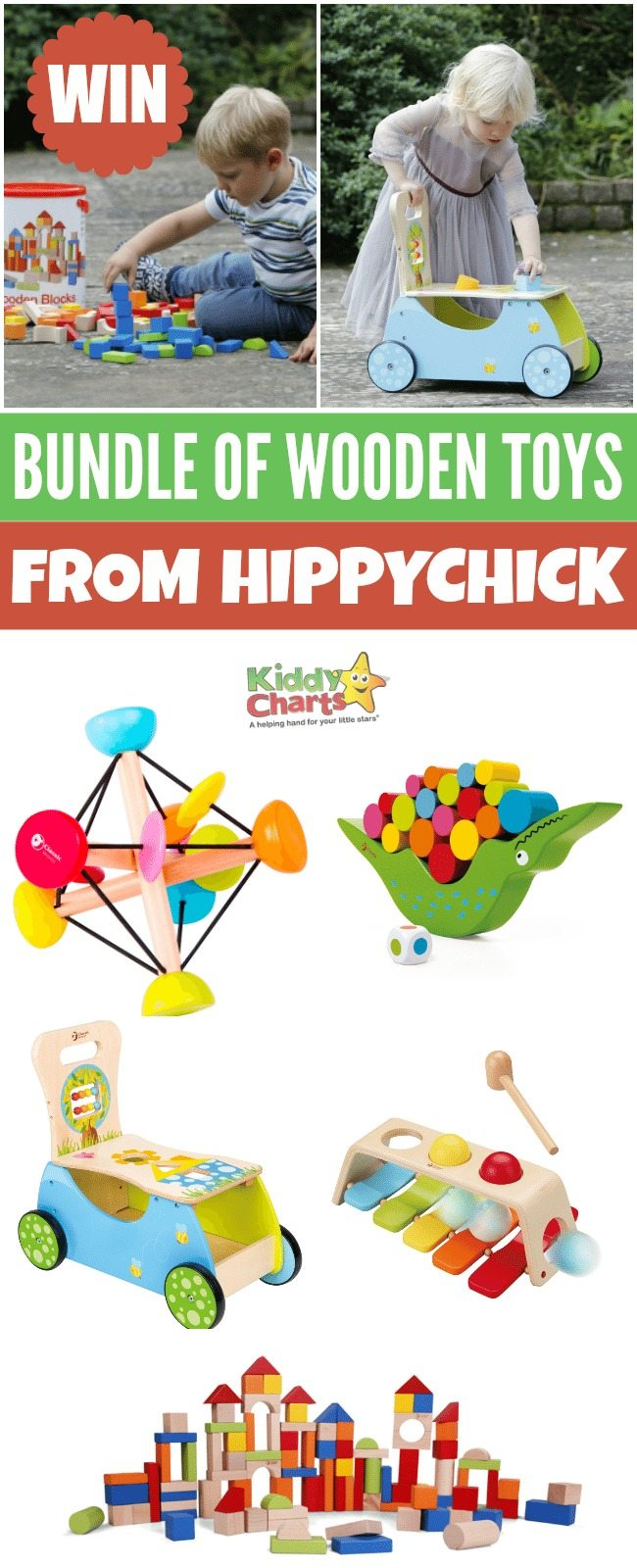 Enter for a chance to win bundle of gorgeous wooden toys from Hippychick #giveaways #win #toys