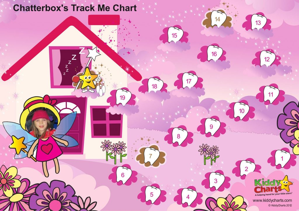 This is one of the Reward Charts you can create on KiddyCharts to help with learning and private tuition. This is a Fairy one! #kids #learning #rewardcharts